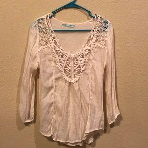 Cream flowy shirt!